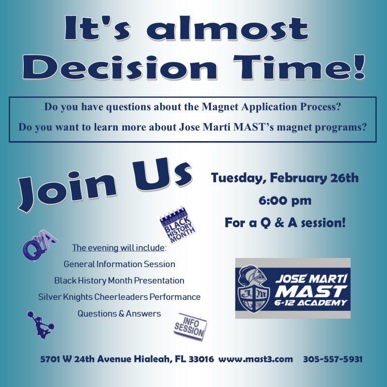 Feb 26 Q & A session flyer